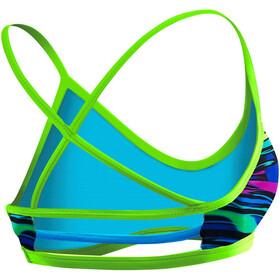 TYR Fresno Trinity Top de bikini Mujer, blue/multi